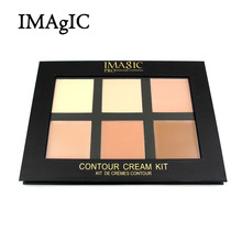 IMAGIC Cream Contour Palette Kit Pro 6 Colors Concealer Makeup Palette Concealer Face Primer for all skin types