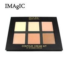 IMAGIC Cream Contour Palette Kit Pro 6 Colors Concealer Makeup Palette Concealer Face Primer for all skin types