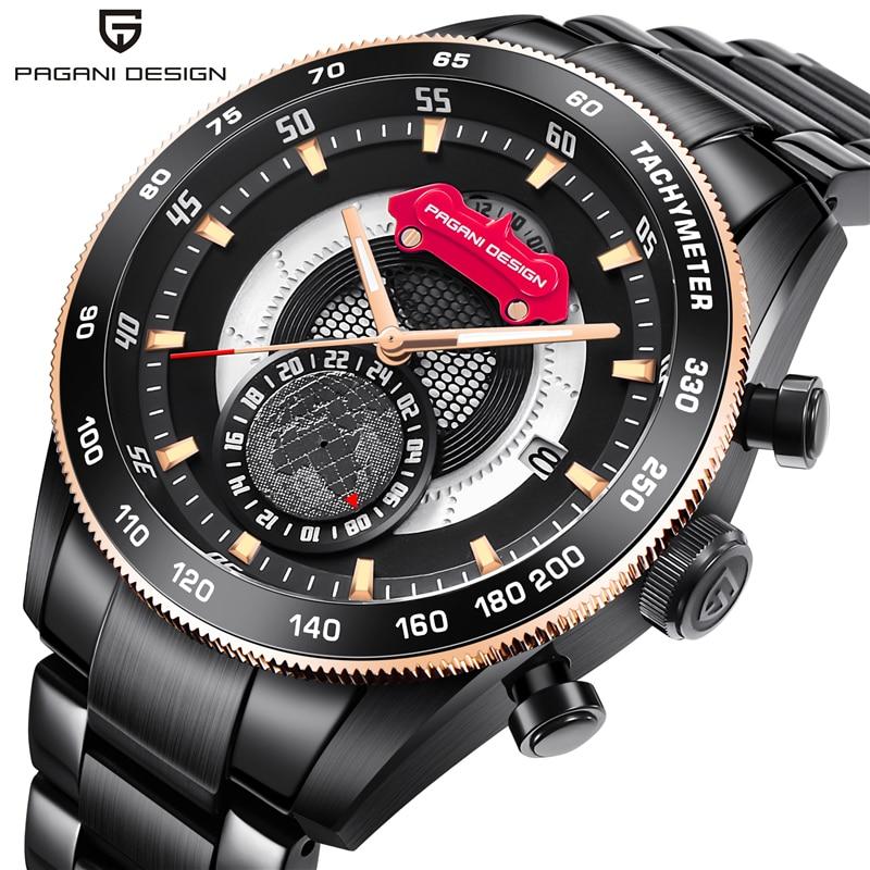 все цены на PAGANI DESIGN Mens Watches Top Brand Luxury Quartz Wrist Watch Waterproof Clock Man Saat Relogio Masculino Relojes Hombre 2018