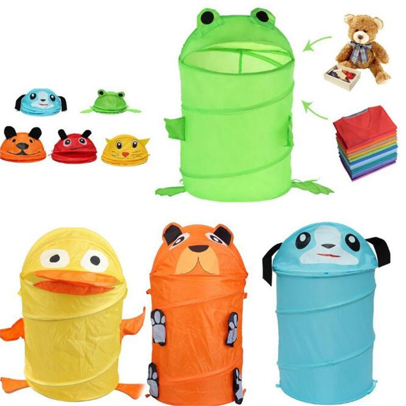 Cute Animal Collapsible Toy Storage Organizer Folding: Toy Container Toy Storage Box Folding Bucket Laundry