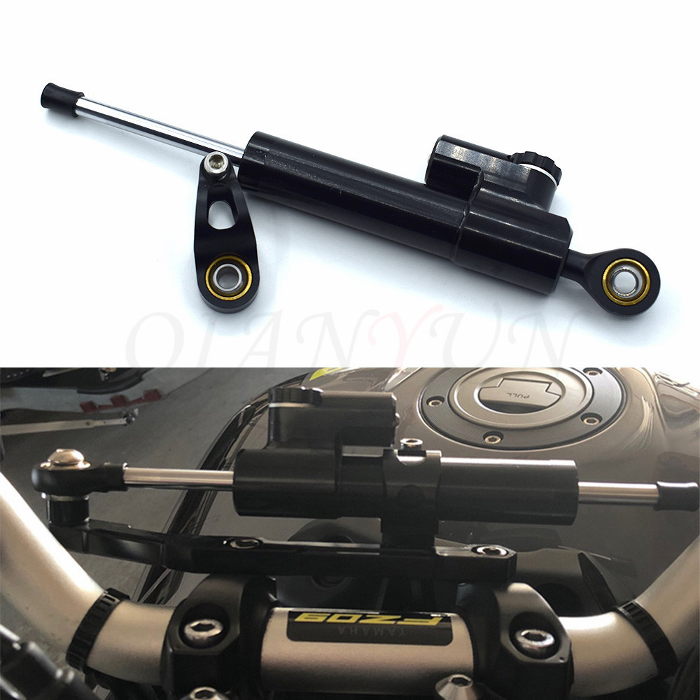 Motorcycle cnc Universal Stabilizer Damper Complete Steering Mounting Bracket For <font><b>ninja</b></font> <font><b>250</b></font> <font><b>Kawasaki</b></font> Z1000 Z800 Z750 EX-300 image
