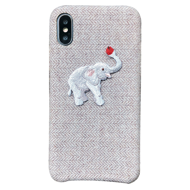 Cute Embroidered Elephant Phone Case For iPhone 5