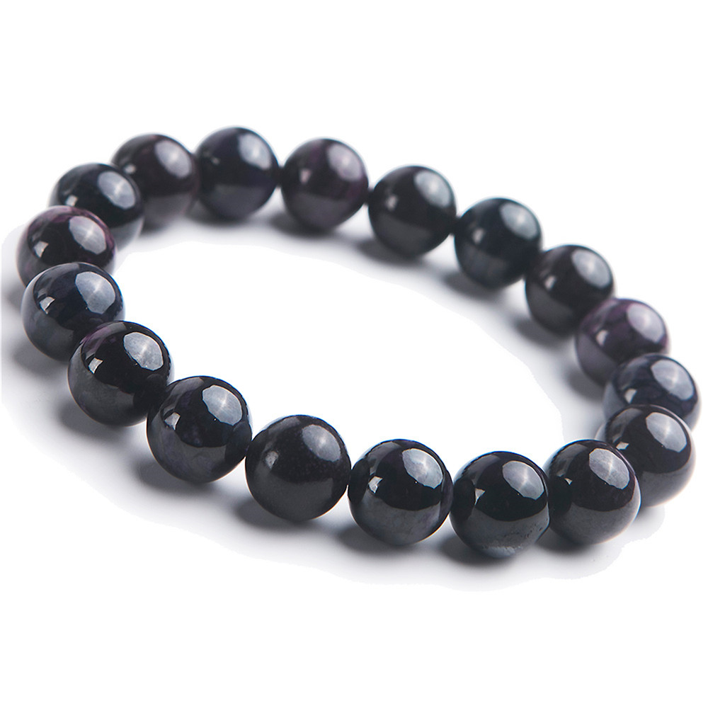 Men Jewelry Bracelet Natural Purple Sugilite Crystal Gems Stone Stretch Round Beads BraceletsMen Jewelry Bracelet Natural Purple Sugilite Crystal Gems Stone Stretch Round Beads Bracelets