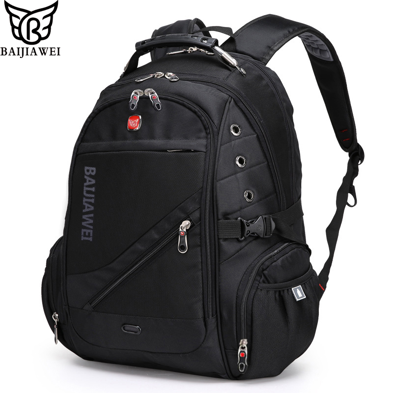 BAIJIAWE 15 Computer Notebook Laptop Backpacks Men Travel Bag Packsack Designer Unisex School Business Backpack Mochilas