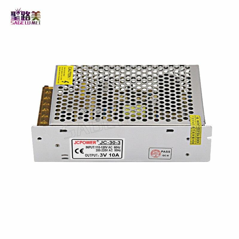 AC110V/220V Input TO DC 3V 10A 30W LED regulated Switching Power Supply Driver Transformer Constant voltage For LED Strip Light kvp 24200 td 24v 200w triac dimmable constant voltage led driver ac90 130v ac170 265v input