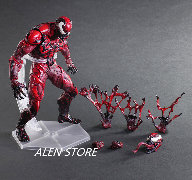 ALEN RED COLOR VER. VENOM SPIDER-MAN PLAY ARTS KAI MARVEL UNIVERSE ACTION FIGURE Toy Collectibles Model Doll marvel universe ultimate spider man