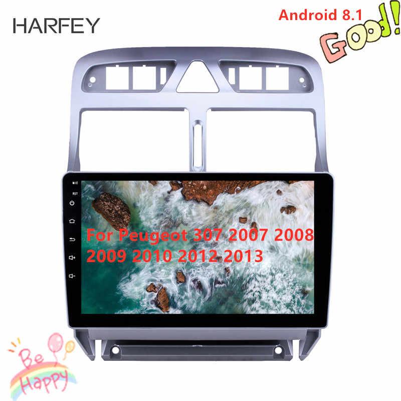 Harfey 2din Android 8,1 reproductor multimedia de coche para Peugeot 307 2007 2008 2009 2010 2012 2013 unidad de cabeza de navegación GPS la Radio del coche
