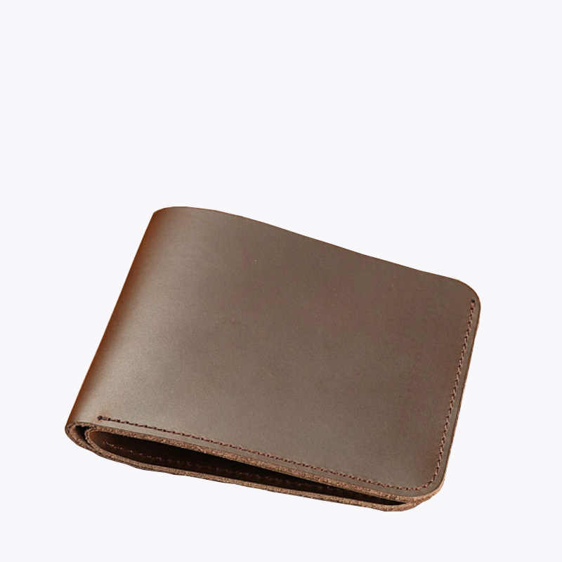 Vintage Short Male Wallet Crazy Horse Leather Handmade Minimalist Men Wallets Cash Holder Purse for Cool Man Portomonee