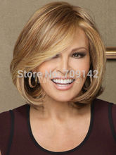 Fashion Charm Women's short Brown Blonde Natural Hair wigs Kanekalon hair no lace front wigs fast deliver 26% discount