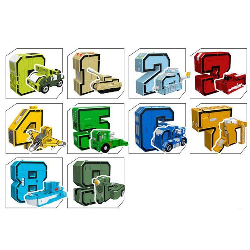 GUDI 2086 Transformer Number Robot Bricks 10 in 1 31