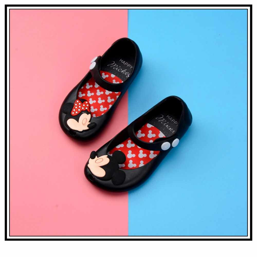 5df4730f8b37 ... Toddler Kids Summer Shoes Candy Color Non-Slip Beach Shoes for Girls Mickey  Mouse Jelly ...