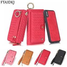 Đa Năng Họa Tiết Đan Khóa Zipper Ốp Lưng Dành Cho Dành Cho Samsung Note 10 8 9 S8 S9 S10 Plus S10E Cho Iphone XS max XR X 6 6S 7 8 Plus