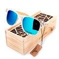 2016 Recubiertos gafas de Sol para Hombres y Mujeres Polarizadas Sostenedor De Madera De Bambú Gafas de Sol Con Caja de Madera Regalos Frescos Beach Sunglasess