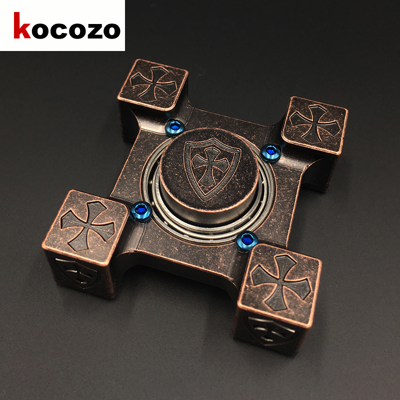 Good Quality Square Shape Copper Hand Spinner Finger Toy Reduce Stress Tri Spinner For Autism and ADHD Kid Gift creative ceramic tri spinner fidget toy edc hand spinner for autism and adhd stress relieve toy rotation time beyond 6 minutes