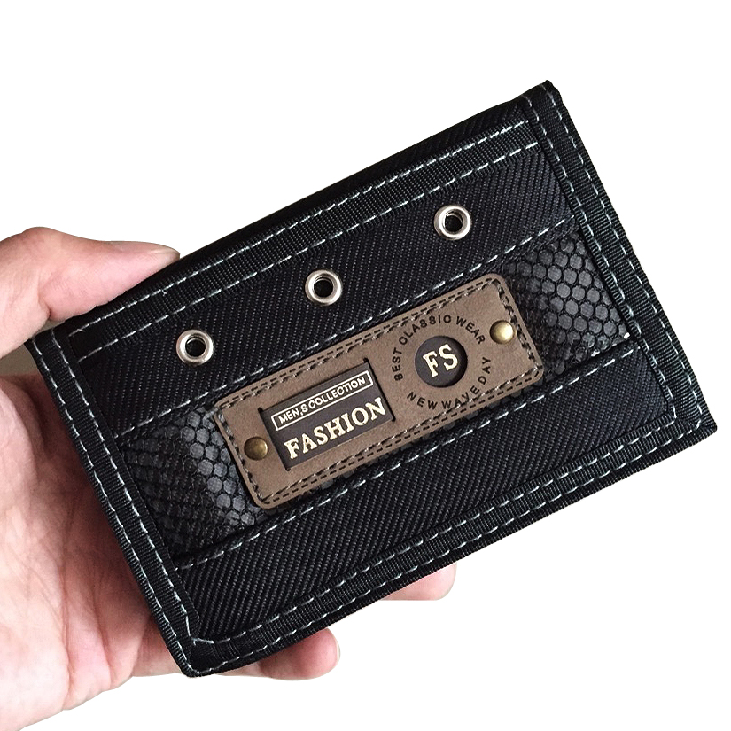 Men Wallets Waterproof Canvas Fabric Fold Mans Purses Male Wallet Short Coin Purse Burse Moneybags Cards ID Holder Wallet Clips