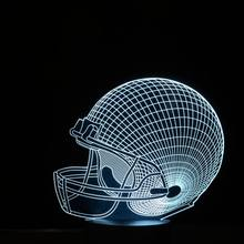 Amazing 3d Illusion Rugby Hat Lamp LED Night Lights with 7 Colors Lamp as Home Decoration