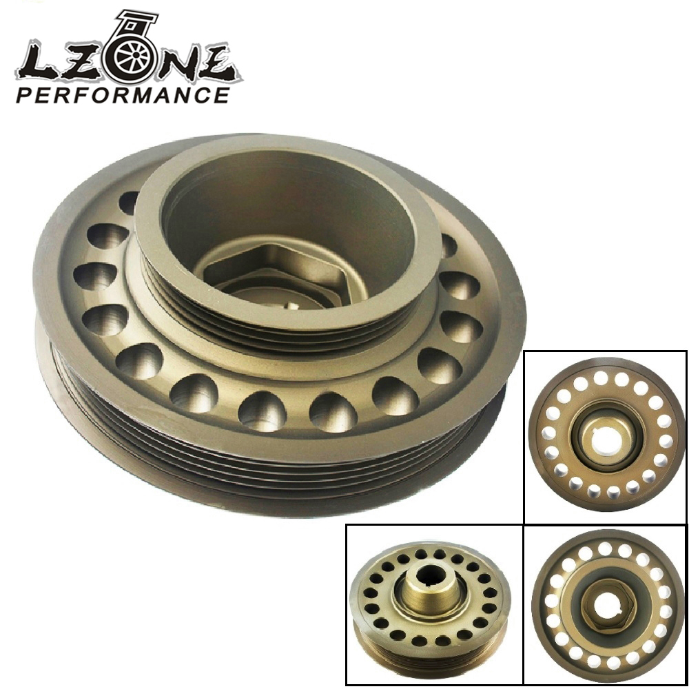 LZONE Racing Light Weight Aluminum Crankshaft Pulley OEM Size For 93 01 Honda Prelude H22 VTEC