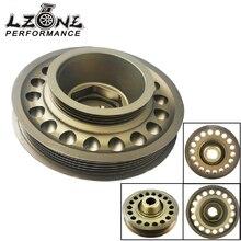 LZONE-Racing алюминиевый OEM размер легкий шкив коленчатого вала для 93-01 Honda Prelude H22 VTEC JR-CP012