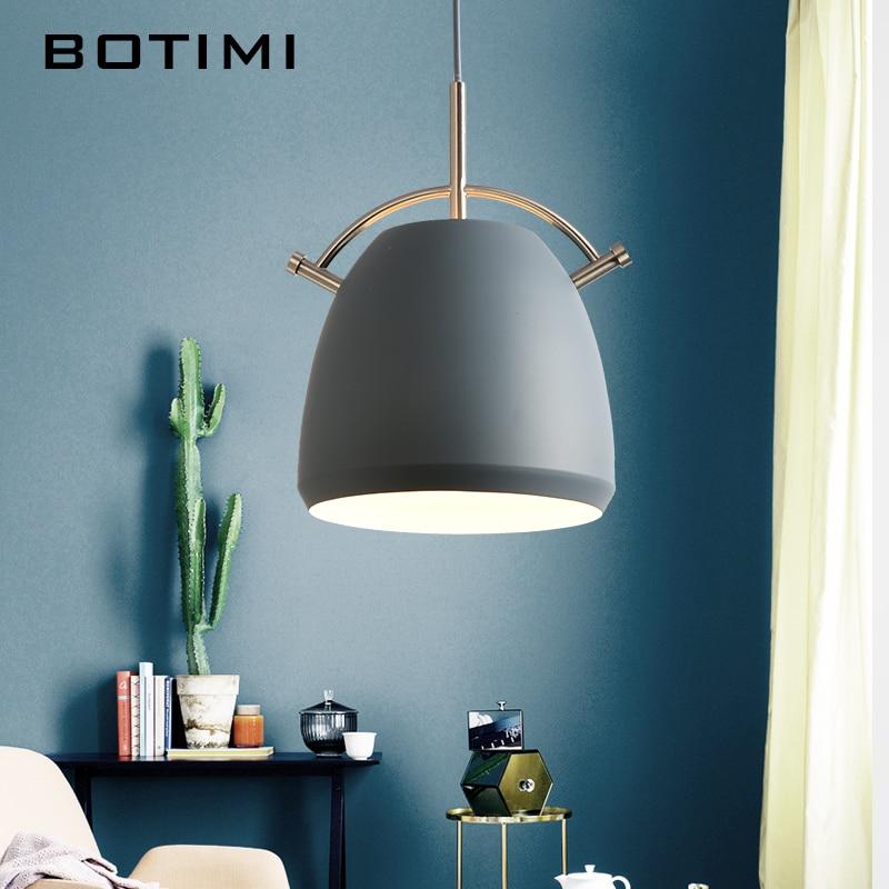 BOTIMI Nordic Designer Pendant Lights Wooden Dining Light Modern ...