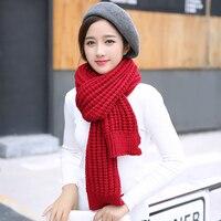 DARIAROVA Women's Scarf Winter Wool knitted Scarf Collar Lovers Scarves Thicken Warm LIC black Scarves Red Stole Men Shawl Wrap