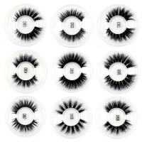 100PCS False Eyelashes handmade real mink fur 3D false eyelash strip lashes Natural volume cruelty free Makeup Eyelashes DHL UPS