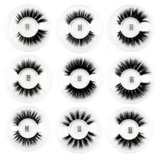 100PCS False Eyelashes handmade real mink fur 3D false eyelash strip lashes Natural volume cruelty free Makeup DHL UPS