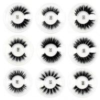 100PCS False Eyelashes handmade real mink fur 3D false eyelash strip lashes Natural volume cruelty free Makeup Eyelashes DHL UPS
