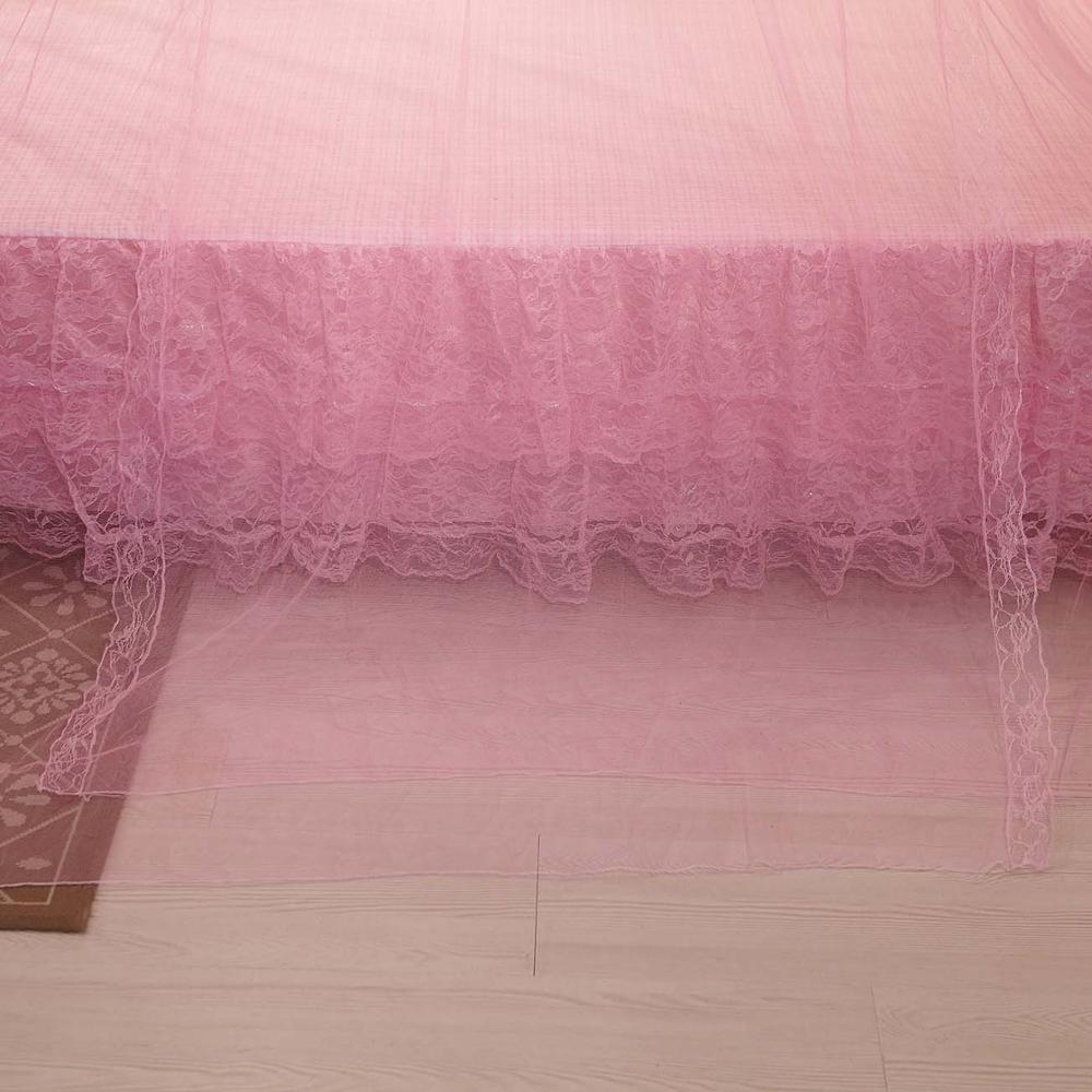 prinsessan sängtak himmel rosa insekt myggdörr fönster nät skärm - Hemtextil - Foto 2