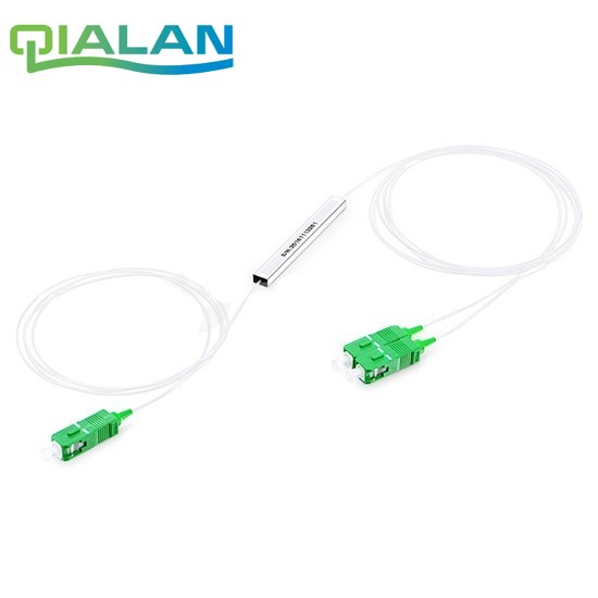 1X2 10Pcs Plc Fiber Splitter, Mini Module, 900Um, Micro Metal Tube, Sc/apc Splitter