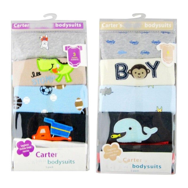 5 sztuk / partia Dziecko pajacyki z krótkim rękawem baby boy - Odzież dla niemowląt - Zdjęcie 3