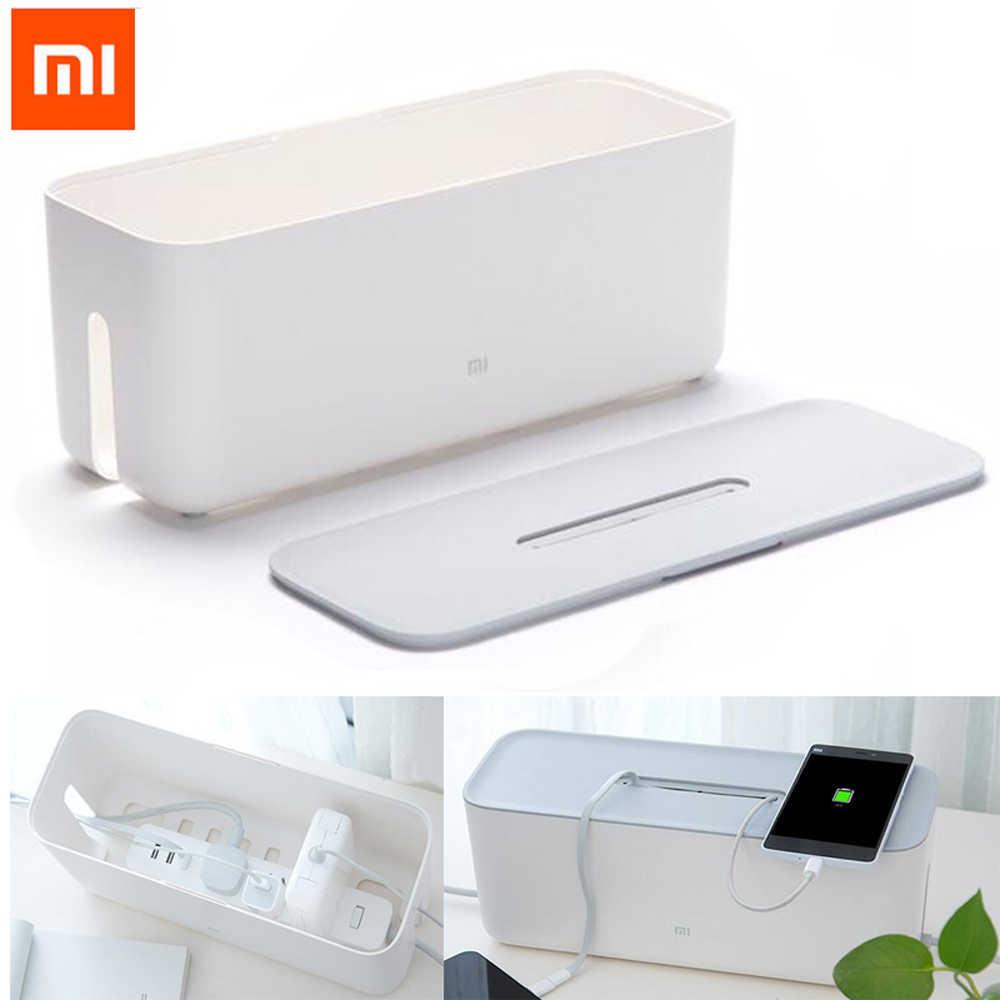100% Xiaomi коробка для хранения гнезда шнура питания пылеизоляционная охлаждающая полоска с отверстием основание штепсельной вилки отделочная коробка для завязывания дома Storag инструменты