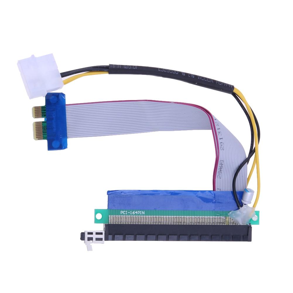 Адаптар Мадэрнізаваны падаўжальнікам кабеля PCI-E 1X 16X Гнуткае пашырэнне PCI-E Падаўжальнік канвэртар Riser Кабель для Bitcoin Miner