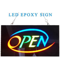 New Waterproof LED Electronic Welcome Open Sign Led Epoxy Resin Sign On Off Switch Bright Light