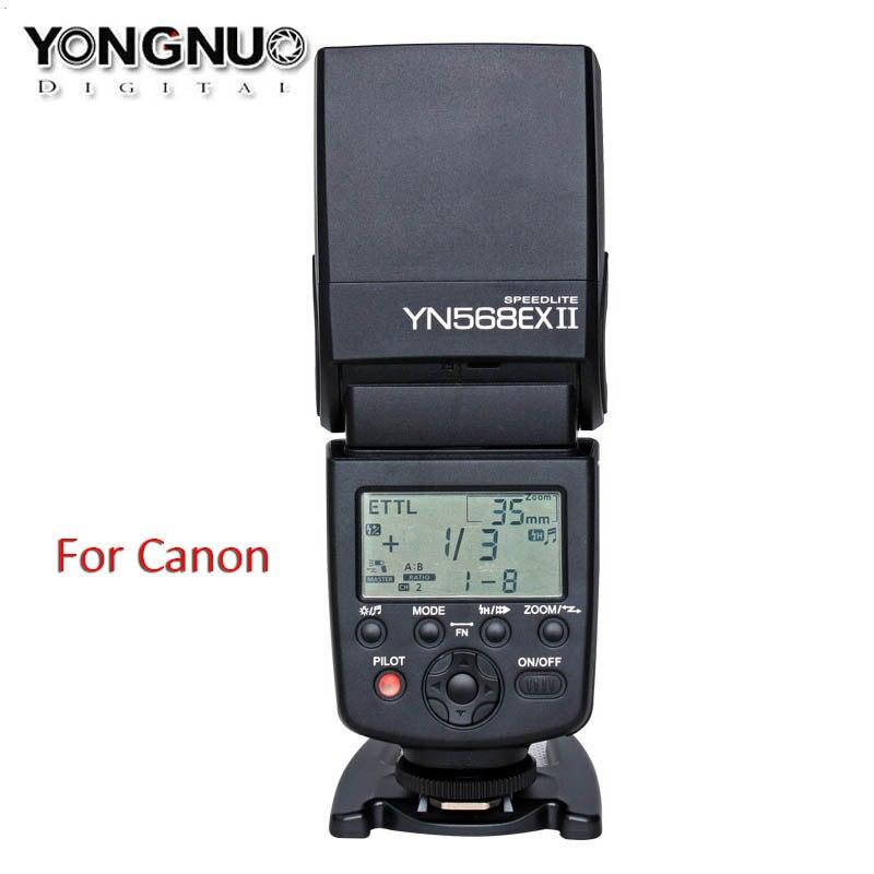 YONGNUO YN568EX II YN-568EX II HSS TTL Flash Speedlite for Canon 5DIII 5DII 5D 7D 60D 50D 700D 650D/T4i 600D/T3i 550D/T2i 500D genuine meike mk950 flash speedlite speedlight w 2 0 lcd display for canon dslr 4xaa