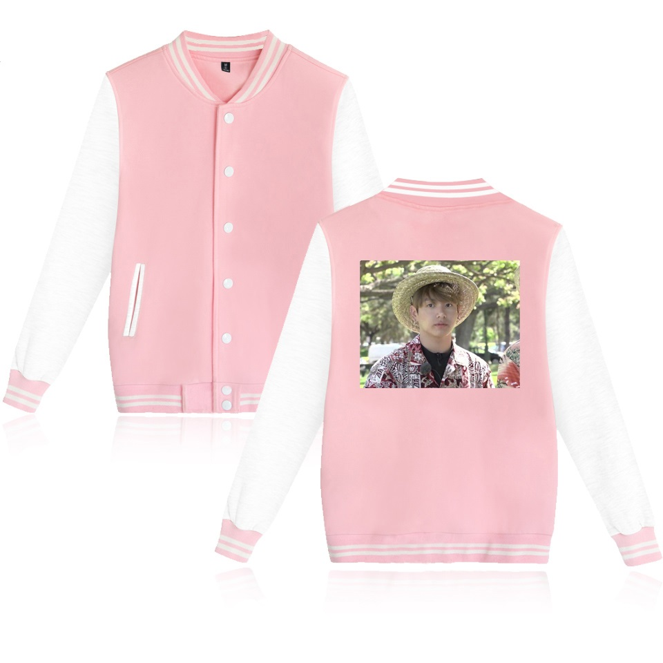 BTS Kpop Jungkook Hawaii Baseball Jacket Men/Women Casual Coats Jacket College Style Clothes Plus Size 4XL