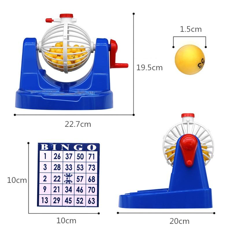 Mini bingo spiel bingo karte ball chip maschine set kinder ...