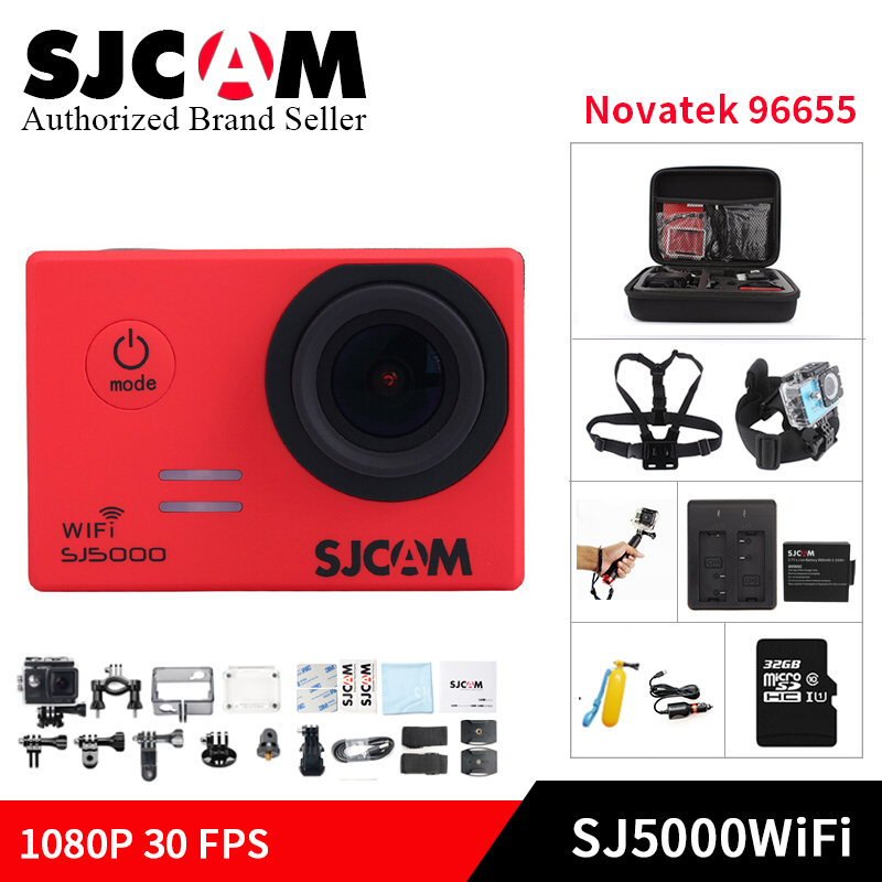 100% SJCAM SJ5000WIFI Action Camera 1080P full HD Novatek 96655 Waterproof kamera Sport DV Helmet Cam gopro style mini DV camera
