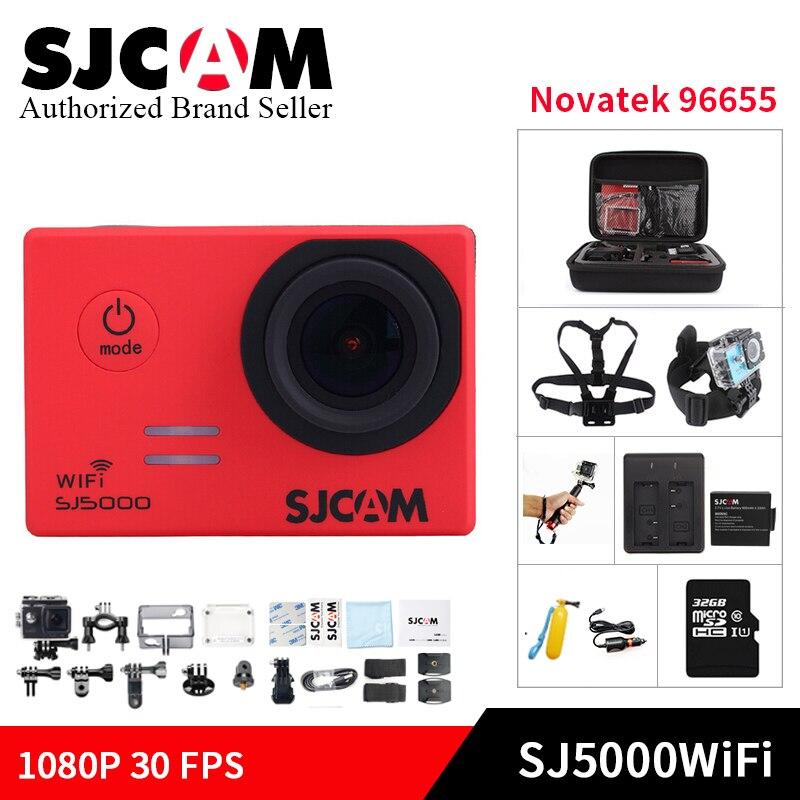 Galleria fotografica 100% SJCAM SJ5000WIFI Action Camera 1080P full HD Novatek 96655 Waterproof kamera Sport DV Helmet Cam gopro style mini DV camera