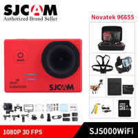 100% SJCAM SJ5000WIFI Action Camera 1080 P full HD Novatek 96655 impermeabile kamera Sport DV Helmet Cam gopro style mini DV fotocamera