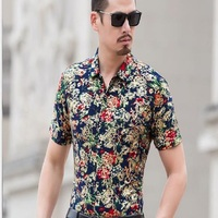 ECTIC H5052018 Spring Autumn Features Shirts Men Casual Jeans Shirt New Arrival Long Sleeve Casual Slim