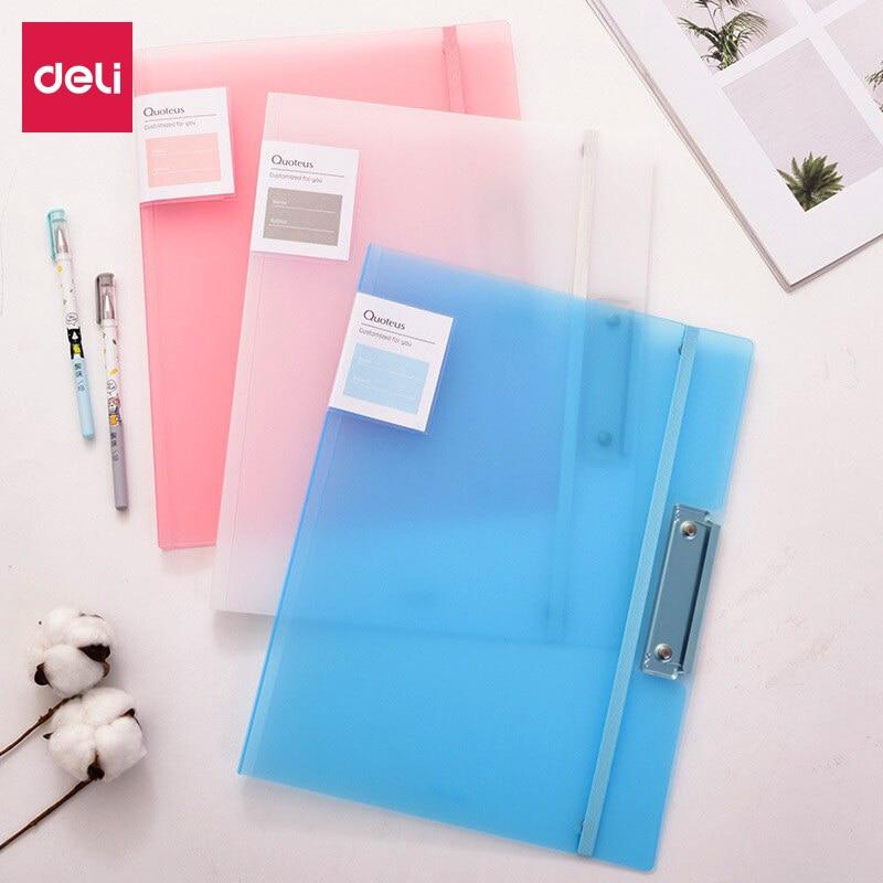 Deli 2pcs Test Paper Filing Production Folder Student Multi
