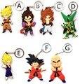 Série de Anime Dragon Ball Z Son Goku Saiyan Vegeta Keychain DO PVC celular Titular Para Homens Dragonball Freeza 3D Anel Chave Chave Anéis