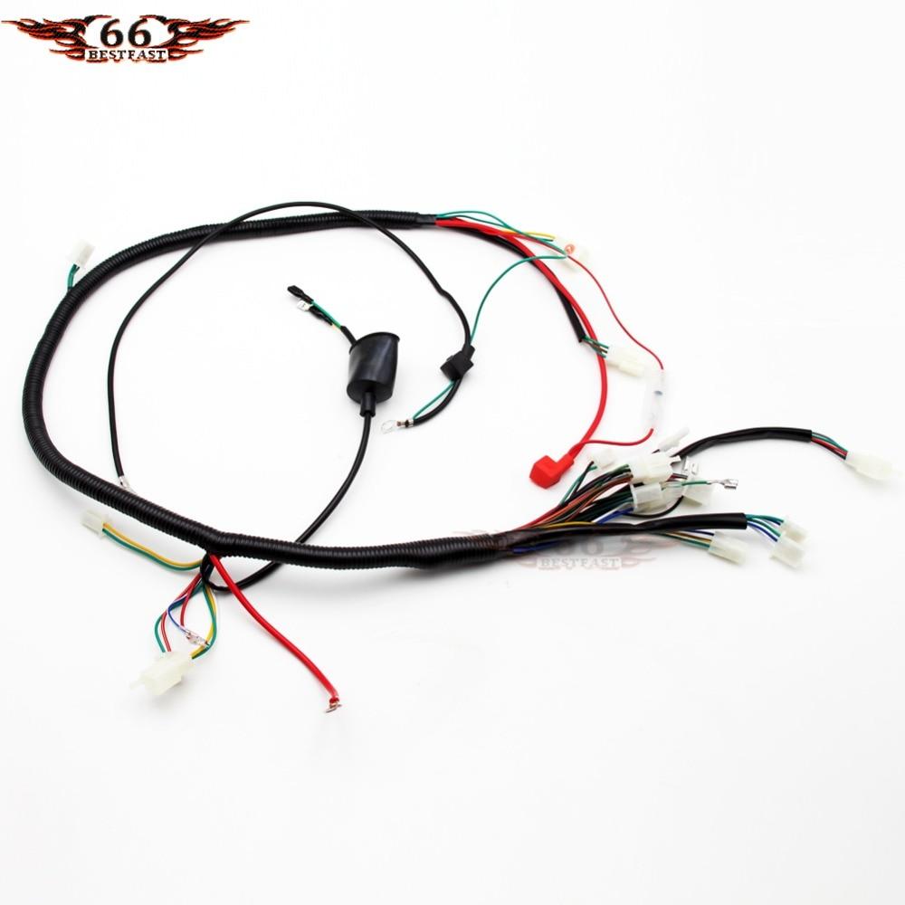 gy6 wireloom wiring harness assembly for scooter 50cc 125cc 150cc 200cc 250cc chinese elecric start kandi atv quad bike atomik buggy [ 1000 x 1000 Pixel ]