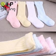 Hplikeing Hot 8 Pcs Breathable Summer Baby Socks Knee High Newborns Boy Girl Infant Socks Bebe Meias Leg Warmers Baby Clothing