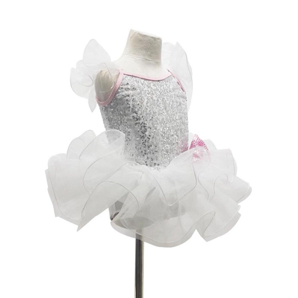 Jupe de danse lyrique blanche pour femmes jupe de Ballet pour filles Costume de justaucorps professionnel Tutu ymnastique Dancewear haut à la mode
