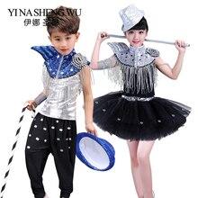 b8a3c9c1054a9 Los niños lentejuelas danza etapa de chico y chica hip-hop danza trajes  niños danza Jazz danza