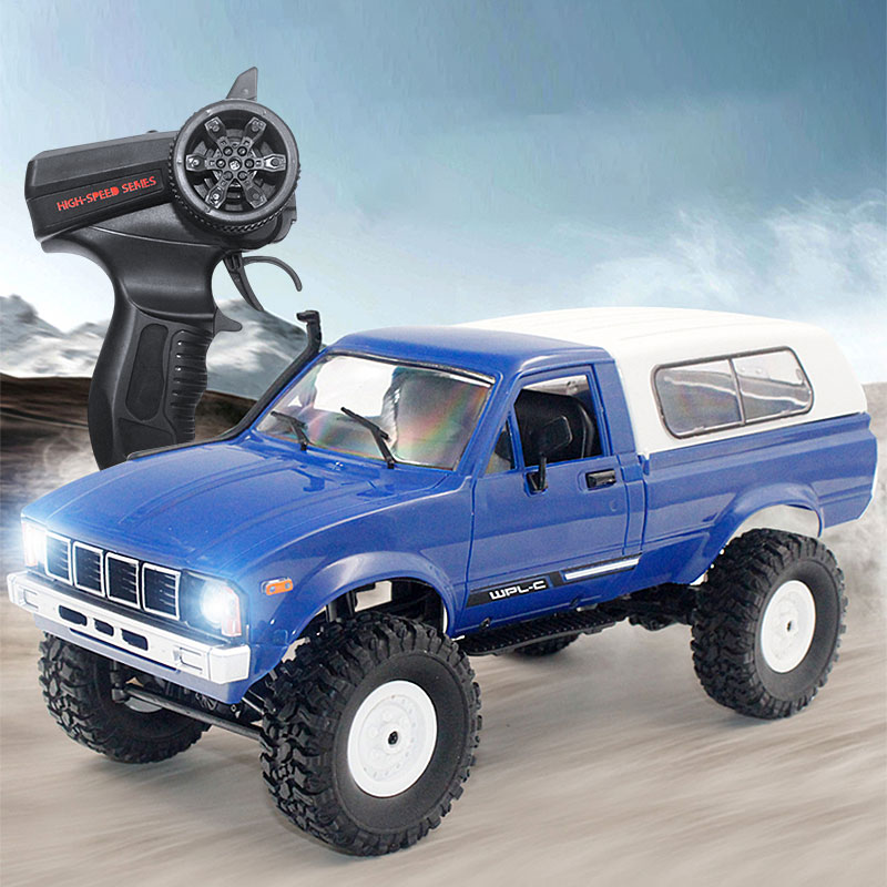 <font><b>WPL</b></font> <font><b>C24</b></font> 2.4G 1:16 4WD RC Car Jeep Model Electric Radio Remote Controlled Off-Road Truck Buggy Moving Machine RC Toys Boys Gifts image