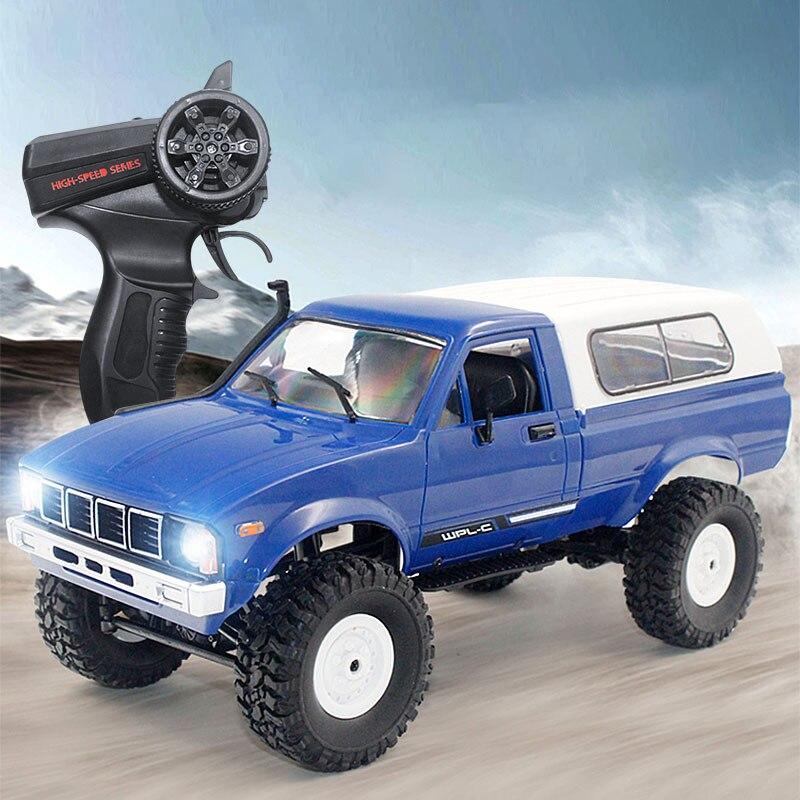 WPL C24 2.4G 1:16 4WD RC voiture Jeep modèle électrique Radio télécommandé tout-terrain camion Buggy Machine de déménagement RC jouets cadeaux garçons