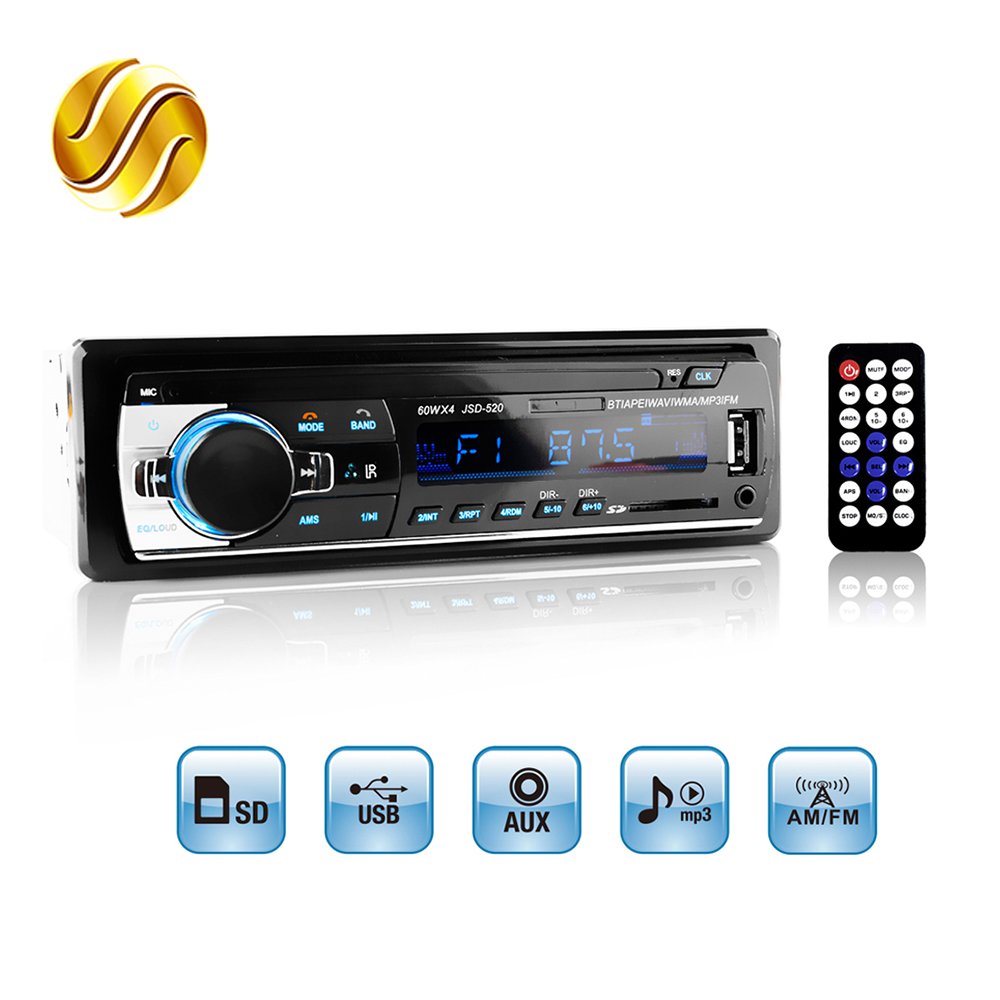 buy car radio stereo mp3 player digital bluetooth 60wx4 fm audio music usb sd. Black Bedroom Furniture Sets. Home Design Ideas