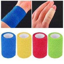 Bande élastique imperméable de Protection de sécurité, Kit de premiers soins, Bandage cohésif non tissé 5M